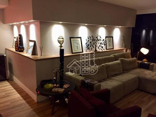 Apartamento Com 4 Dormitórios À Venda, 202 M² Por R$ 2.050.000,00 - Ingá - Niterói/rj - Ap2980