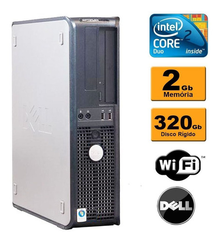 Imagem 1 de 8 de Computador Dell Core 2 Duo 2gb Ddr3 320gb Wifi Promoção