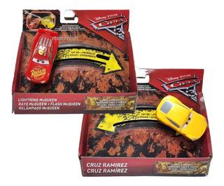 Cars Mcqueen + Cruz Ramirez Combo Crazy 8 Crashers Mattel