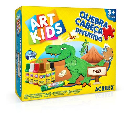 Rompecabezas Entretenido Acrilex Dinosaurio