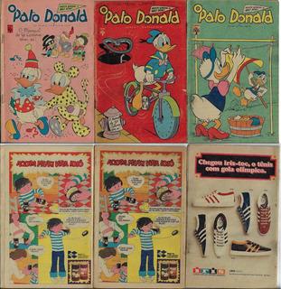 1974 A 1976 Hq Quadrinhos Pato Donald Nº 1162 1168 E 1262