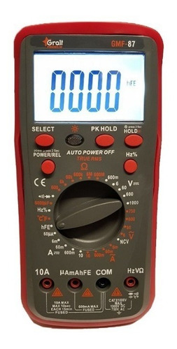 Imagen 1 de 3 de Tester Multimetro Digital Gralf Premium Gmf-87 Ncv Luz Ac/dc
