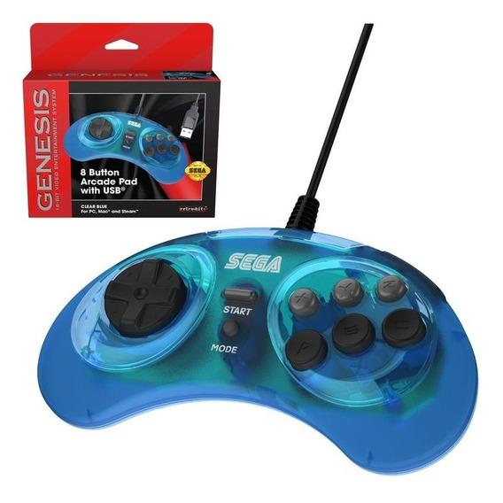 Controle Oficial Retro-bit Gênesis Mega Drive Usb - Novo