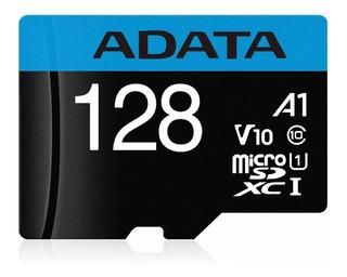 Memoria Micro Sd 128 Gb Adata Clase 10 Premier Uhs-1 100mb/s