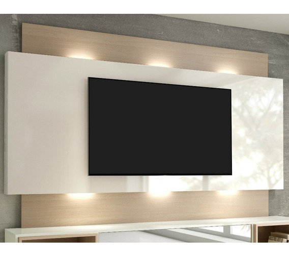 Painel Para Tv Até 65 Com Led Tb133l - Natural Off White
