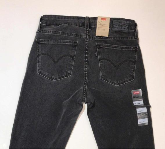 Pantalón Levis De Jeans Dama Modelo 711 Black