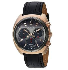 Relógio Bulova Masculino Curv Cronógrafo Dourado/preto Preci
