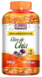 Óleo De Chia (180 Cápsulas + 30 Grátis) Promoção