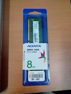 Memoria Ram Ddr3 1600 8gb Pc3-12800