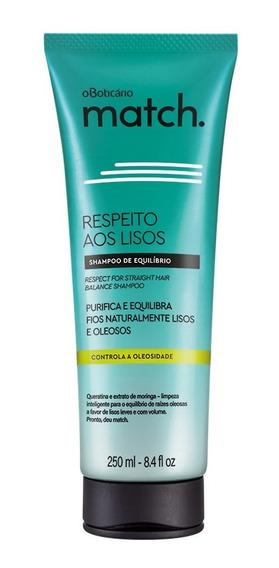Match Respeito Aos Lisos Shampoo Cabelos Oleosos, 250ml