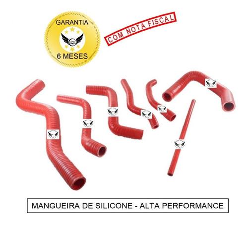 Kit Mangueiras Água Silicone Radiador Vw Ap 8v Gol Quadrado Vermelho