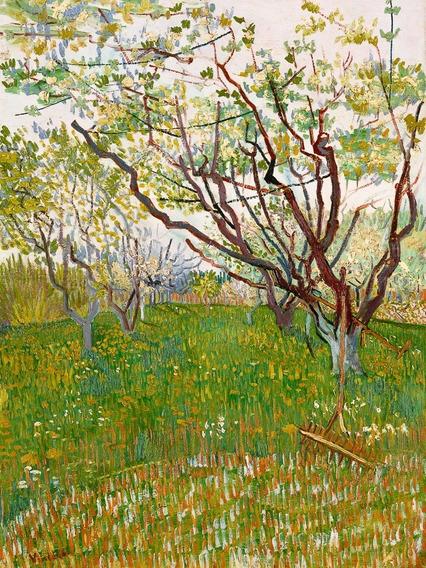 Cuadros Van Gogh El Huerto Floreciente 75x90 En Bastidor