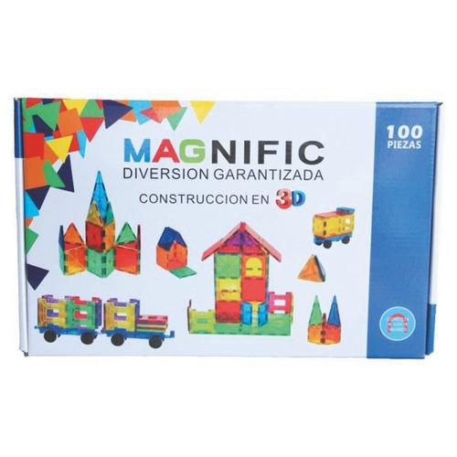 Bloques Magnéticos Con Ruedas Magnific Por 100 Piezas