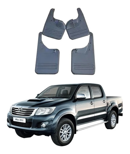 Guarda Fangos Toyota Hilux 2006-2015  6piezas  Plasticas