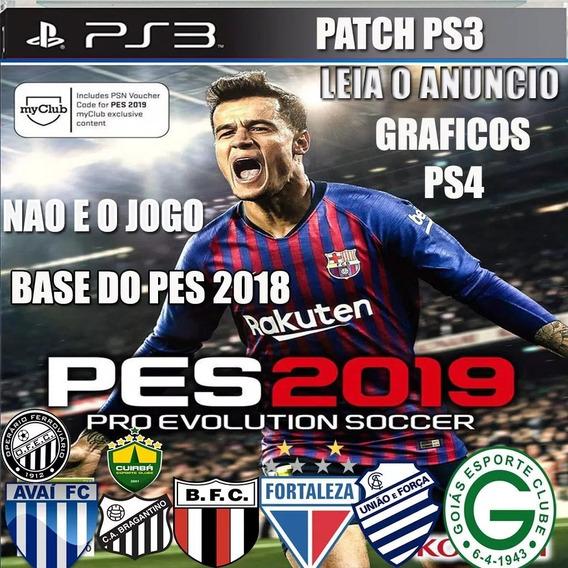 Patch Option Pes 18 Ps3 Atualização Elencos Brasileirão 2019