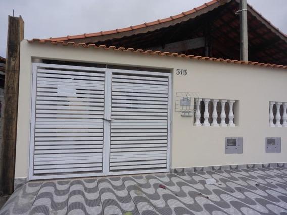 Belíssima Casa Lado Praia Em Mongaguá Ref: 6687 E