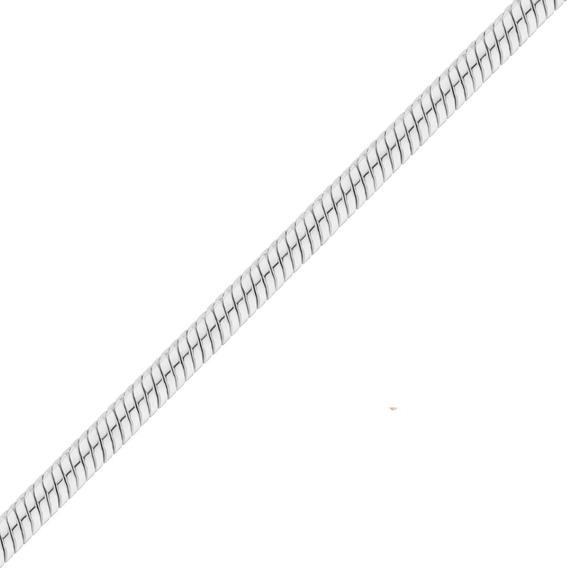 Cadena Plata925 Serpiente-cola-clapton Hombre 3mm X 60cm