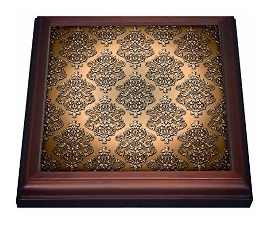 3drose Trv_210786_1 Royal Copper Single Damask Patrã³n De