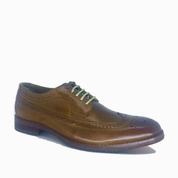 Sapato Democrata Brogue Derby Tan 134107
