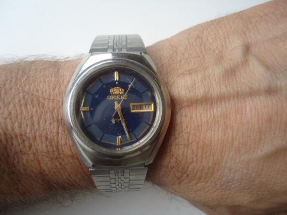Relógio Orient Automático Ótima Conservação Azul
