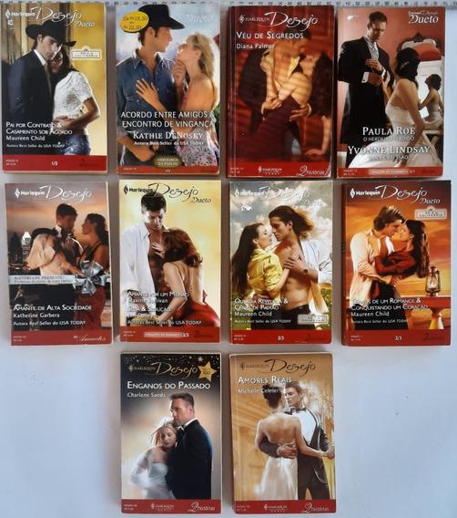 Romance Harlequin Desejo 2 Historia Pacote Com 10 Livros