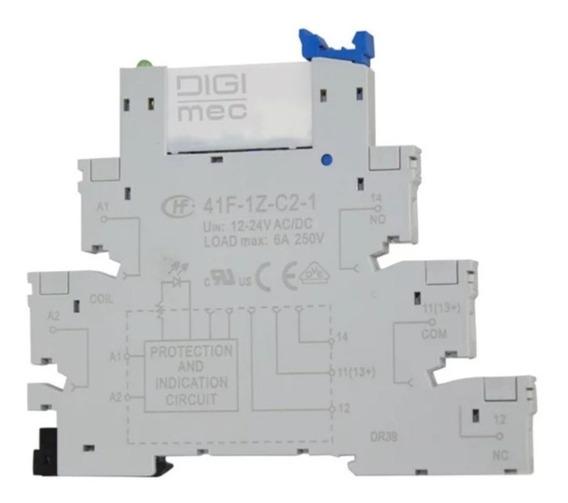 Kit 10 Relé De Interface 24vcc/ca 6a Slin Hdr-4 Digimec