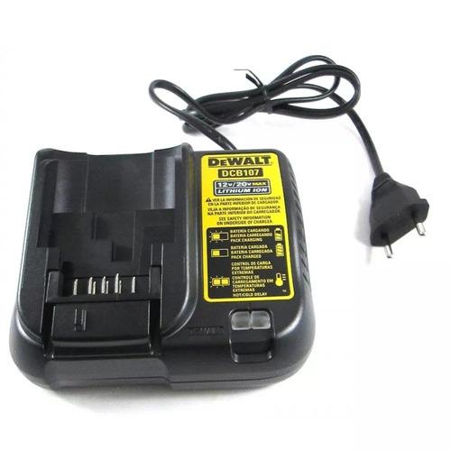 Carregador Bateria Lítio De 12v A 20v Bivolt Dcb107 Dewalt