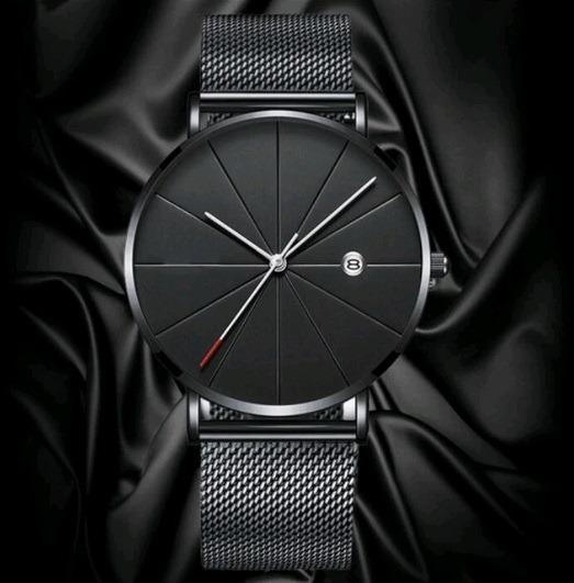 Relógio Masculino Cuena Executivo Malha De Aço Infinity