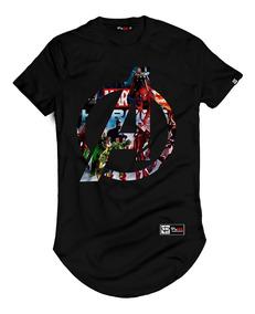 Camiseta Masculina Longline Vingadores Avengers Ultimato