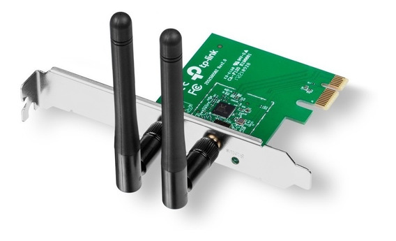 Placa De Rede Pci Express Wireless 300mbps Tp-link Tl-wn881n