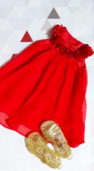 Vestido De Niña Y Sandalias Marca Jump