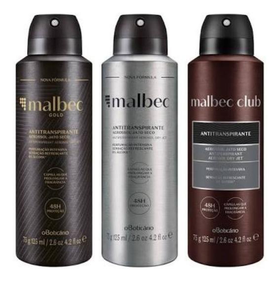 Kit Malbec Desodorante Aerosol Club/gold/magnetic Boticário