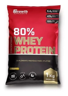 Growth - Suplemento Whey Protein Concentrado 80% 1k