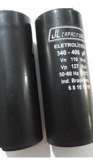 2 Capacitor Eletrolitico 340-408uf 110v Jl