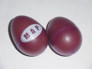 Maracas Eggs Original Importada Percussion Musical Roja 15d