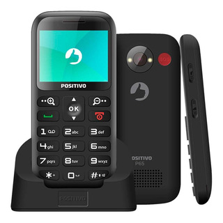 Celular Positivo P65 Preto Bluetooth E Rádio Fm Dual Chip 2g