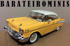 1:24 Chevrolet Bel Air 1957 Amarelo Sunnyside Barateirominis