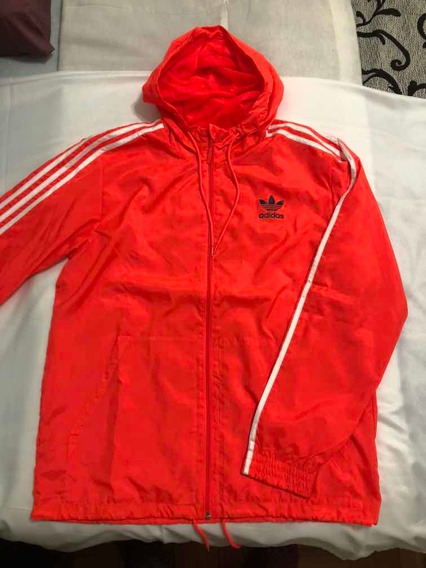 Campera Impermeable Rompe Vientos adidas - Talle L