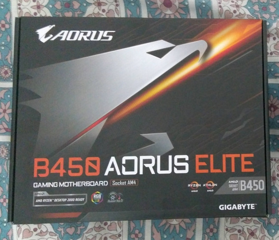 Placa-mãe Gigabyte B450 Aorus Elite Ddr4 Atx Am4