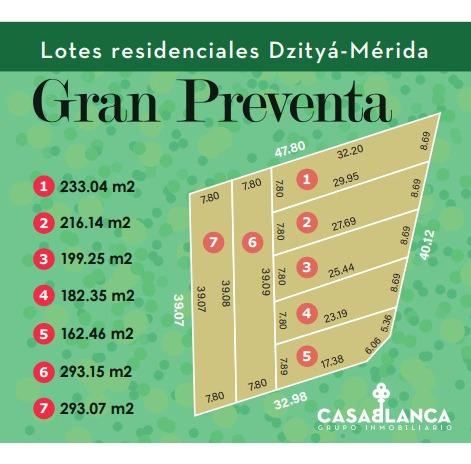 Imagen 1 de 7 de Precio Pre Venta Lotes Terrenos Zona Residencial Merida