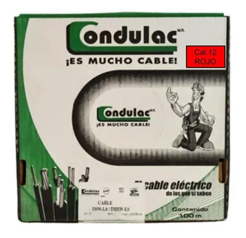 Caja 100 Mts Cable Rojo Thw Cal 12 Awg 100%cobre Condulac
