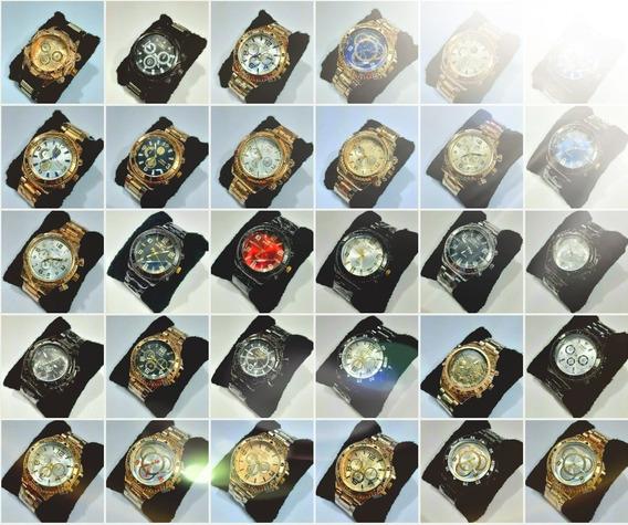 Kit 10 Relógios Masculino Dourado Prata Atacado Barato Top