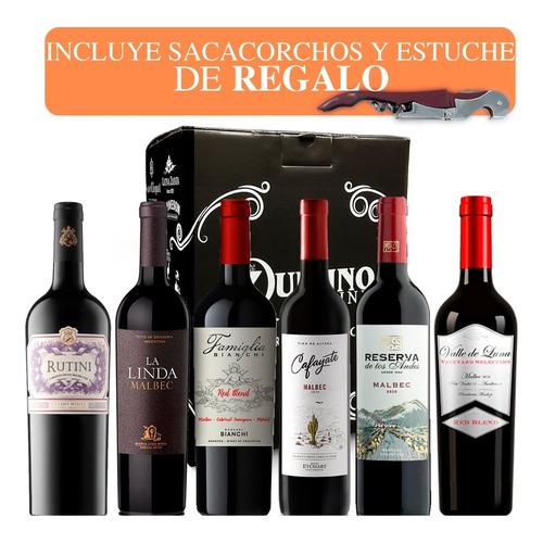 Imagen 1 de 9 de Vino (combo Premiun Caja 6 Botellas X 750) Rutini 2. Quirino