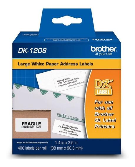 Etiqueta Brother Ql700 Ql-700 Dk-1208 Dk1208 38mm X 90mm