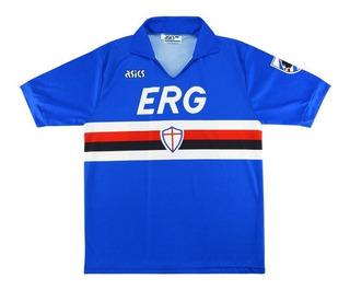 Sampdoria 90/91 Retro - Numeração Jogador Ou Sem Numeração