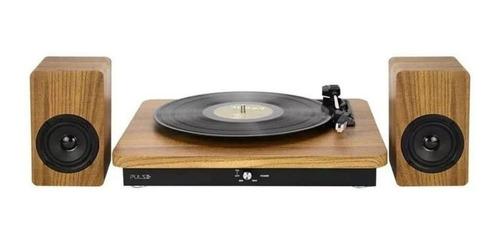 Vitrola De Mesa Toca Discos Retro Pulse Sp366 Bluetooth