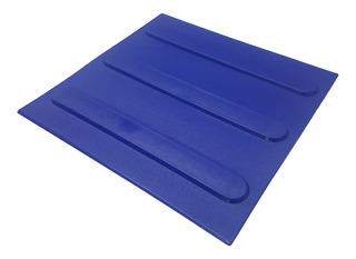 Piso Tátil Direcional Pvc Azul 16pçs 25x25cm 1m² Nbr9050