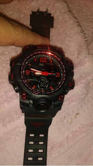 Relógio Esportivo Vermelho Zerado Novinho Lindo