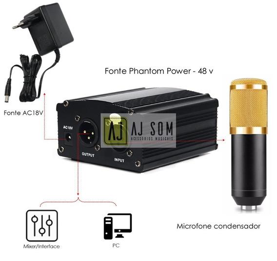 Phantom Power P/microfone Condensador Bm 800,akg