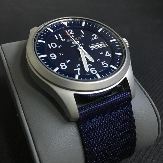 Relógio Seiko Militar Azul Sng11k1 Novo